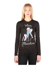 T-shirt, long sleeves - 50% cotton, 50% modal - wash at 30° - italian size - T-shirt women Black
