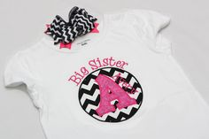 Big Sister Shirt  Circle Initial   Personalized by misslis81, $27.50