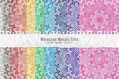 Moroccan Mosaic Digital Papers by The Paper Town on Creative Market