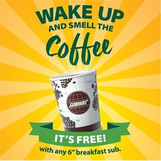 27-31 May 2016: Subway FREE Coffee