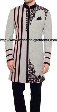 Indowestern collection page 30 Monarch Garments African Shirts For Men, African Dresses Men, African Attire For Men, African Clothing For Men, African Wear, Mens Clothing Styles, Nigerian Men Fashion, Indian Men Fashion, Mens Fashion Wear