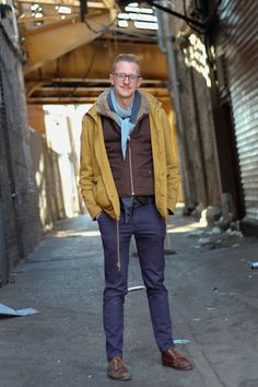 Seth #menswear #chicago #streetstyle #fashion #mensfashion #layers #glasses #color #winter