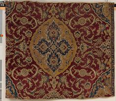 Fragment of an Ottoman Court Carpet, Fragment of an Ottoman Court Carpet, last quarter 16th century, Wool (warp, weft and pile); asymmetrically knotted pile