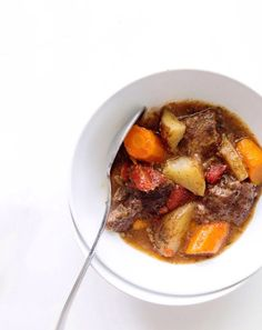 Crock Pot Caribbean Beef Stew – One bowl dishes up two days worth of vitamin A, 6 grams of satiating fiber and 11 grams of muscle-building protein. Get the recipe from Real Food By Dad.