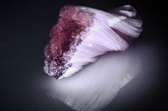Glass Sculpture  @tayganc Amethyst, Artists, Sculpture, Texture, My Favorite Things, Crystals, Glass, Artwork, Crafts