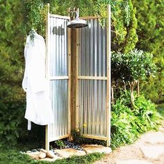 corrugated metal walls - what about larger to create a privacy screen for a hot tub?