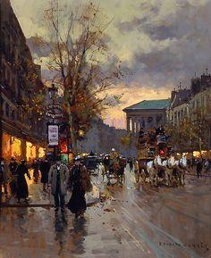 Boulevard de la Madeleine    Artist: Edouard Cortes