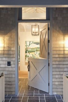 Chic Dutch Door Design Ideas 019 door ideas Chic Dutch Door Design Ideas for Your Home Transom Windows, Windows And Doors, Front Doors, Garage Doors, Interior Barn Doors, Exterior Doors, Dutch Door Interior, Interior Paint, Interior Design
