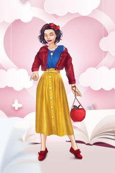 Event: Modern Princesses - Snow White Disney Princess Costumes, Disney Princess Fashion, Disney Princess Art, Athena Costume, Snow White Outfits, Disney High, Snow White Disney, Modern Princess, Modern Disney