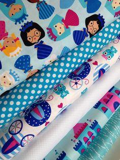 Cotton Fabric, Quilting Fabric, Princess fabric, Princess Life by Ann Kelle,  Robert Kaufman, Fabric Bundle of 6, You Choose the Cuts