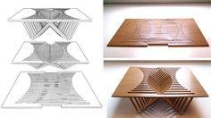 Self-Assembling Rising Table via Gizmodo