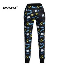 CMYAYA 2016 New Casual Black Print Cartoon Letters Men/Women/Girls/Boys Enjoy 50% Discount Jogger Pant at our web shop http://www.aliexpress.com/store/536244