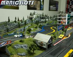 ManicSlots' slot cars and scenery: GALLERY: Fryar Mountain Stage V Slot Car Race Track, Slot Car Racing, Slot Car Tracks, Slot Cars, Stage, Tamiya, Hobbies And Crafts, Scale Models, Scenery