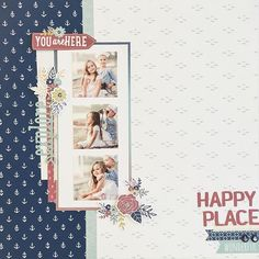 Raise your hand if you LOVE this beautifully crafted scrapbook page made with our Regatta papers