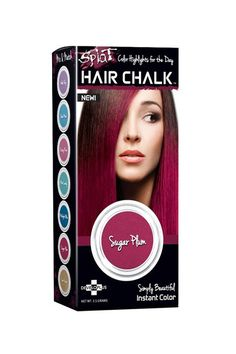 Your Rainbow-Hair Dreams, (Temporarily) Realized  #refinery29  http://www.refinery29.com/hair-chalking#slide4  Splat hair chalk comes with an applicator sponge, making it super easy to get into the nooks and crannies around your hairline.Splat Hair Chalk, $4.99, available at Ulta.