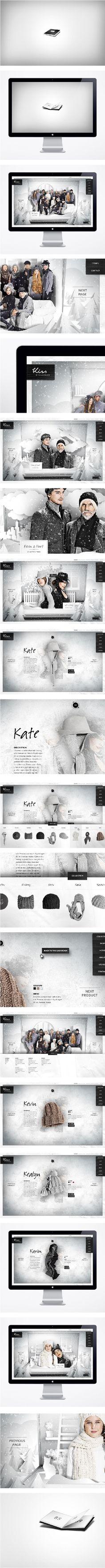 Website / Kiss by Fiona Bennett  Art Direction, Branding, Web Design: