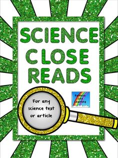 A Close Read tool that will work with any Science text or article you are using! May just turn your students into super test takers!
