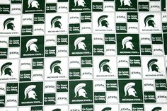 Michigan State University Fabric, College Fabrics, NCAA Fabrics, Trojans 1 Yard Continuous Piece, Sykel #MIST020 by HandmadebyShelia on Etsy