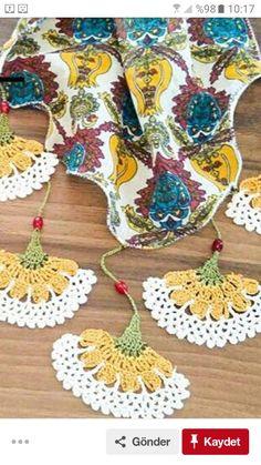 Boho Crochet Patterns, Crochet Motif, Easy Crochet, Crochet Flowers, Crochet Stitches, Summer Knitting, Crochet Instructions, Crochet Accessories, Crochet Scarves