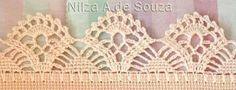 Puntillas en crochet Crochet Doily Diagram, Crochet Edging Patterns, Crochet Lace Edging, Crochet Borders, Crochet Doilies, Crochet Stitches, Crochet Curtains, Crochet Tablecloth, Crochet Stars