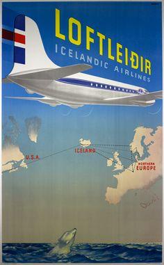 Loftleidir - Icelandic Airlines by Harald Damsleth