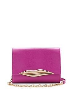DVF Lips Mini Embossed Lizard Crossbody Bag.  (Also available at :  http://www1.bloomingdales.com/shop/product/diane-von-furstenberg-crossbody-lips-mini-embossed-lizard?ID=702011=se-xx-xx-xx.esn_results and http://www.shopbop.com/lips-mini-embossed-lizard-bag/vp/v=1/1551259833.htm