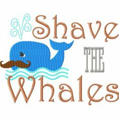 shave the whales machine embroidery