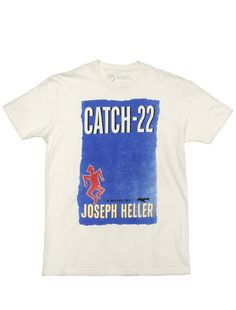 Catch-22: US Edition Book Shirts, White Books, Classic Books, Printed Tees, Mens Tees, Rye, Catcher, Diy Gifts, Writers