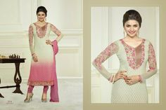 Pure Georgette Embroidery Top and Santoon Bottom with Pure Dupatta ,Straight Suit For Order Call @ 91 9900169212