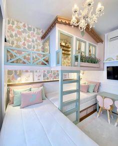 Lovely Lavender Fairytale Girl's Bedroom — Decor For Kids Kids Bedroom Designs, Room Design Bedroom, Room Ideas Bedroom, Home Room Design, Kids Room Design, Home Decor Bedroom, House Design, Bed For Girls Room, Girl Room