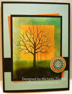 Sheltering Tree Stampin' Up! Card created by Michelle Zindorf