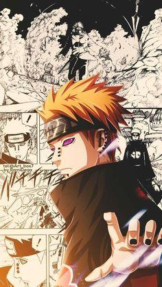 A gallery with the coolest fan art from Naruto, from fans to fans Naruto Kakashi, Anime Naruto, Pain Naruto, Anime Akatsuki, Naruto Shippuden Anime, Boruto, Fanart Manga, Manga Art, Manga Anime