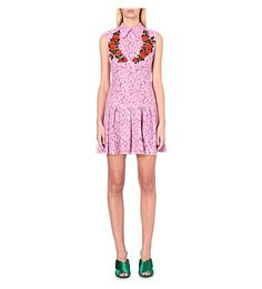 GUCCI Floral-Embroidered Lace Dress. #gucci #cloth #dresses