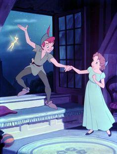 take me to never land Disney peter pan. peter pan and wendy. Disney Pixar, Animation Disney, Disney And Dreamworks, Disney Cartoons, Disney Art, Disney Characters, Disney Icons, Disney Couples, Disney Love