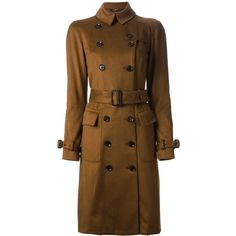 BURBERRY LONDON classic trench coat ($2,035) ❤ liked on Polyvore featuring outerwear, coats, jackets, coats & jackets, brown trench coat, double breasted trench coat, brown waist belt, burberry trenchcoat and burberry coat