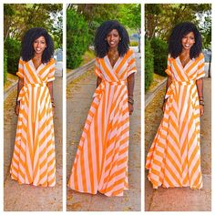 Today's Outfit Post! Neon stripes...
