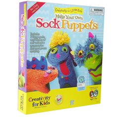 Creativity for Kids Make Your Own Sock Puppets Activity Kit