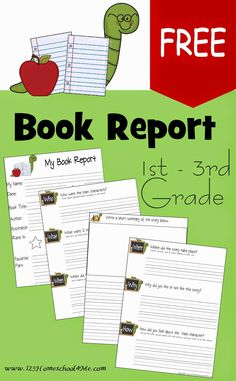 Book Report Forms - FREE Printable book report forms for 1st grade, 2nd grade, and 3rd grade kids.