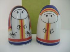 Arabia Finland vintage Lappalainen salt and pepper shakers by Esteri Tomula.