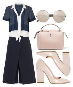 """""""Did You?"""" by anabella-s ❤ liked on Polyvore featuring TIBI, Equipment, Dee Keller, Fendi and Victoria Beckham"""