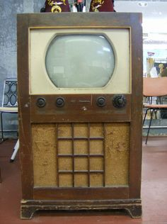 "17"" TV...very much like the first one at my house when I was very tiny...1950 ish"