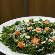 Kale Salad... A little bit of aged cheddar adds lots of flavor