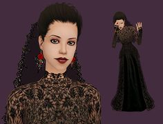 "30 Day Sim Challenge ""Day 23 - Widow "" DOWNLOAD WIDOW NOTE: Her veil, earrings, and bracelet are not included. You can grab the veil here (I used set 10 08) and the jewelry is here."