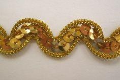 DoveOriginalsTrims - Miami Scroll Sequins Gold With Gold Cord .5 Inch, $1.39 (http://www.doveoriginalstrims.com/miami-scroll-sequins-gold-with-gold-cord-5-inch/)