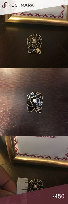 RARE chanel Camilla flowers brooch pin gold From 2002 some light scratches.  Doesn't affect the pin brooch.  Guranteed authentic and a RARE find.  Nothing else included.  Pin brooch only. CHANEL Jewelry Brooches