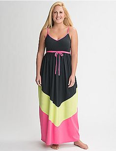 cotton sleep maxi - ideal for sleeping & lounging, but cute enough to wear out, too!   lanebryant.com