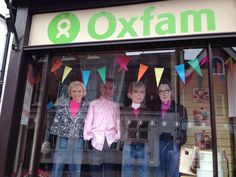 What are the stars of the Great British Bake Off doing in an Oxfam shop window? http://po.st/zeddZp  #GBBO