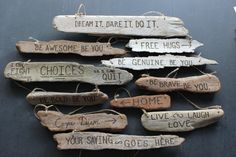 Custom Driftwood Sign wood burned engraved by DestinationTree