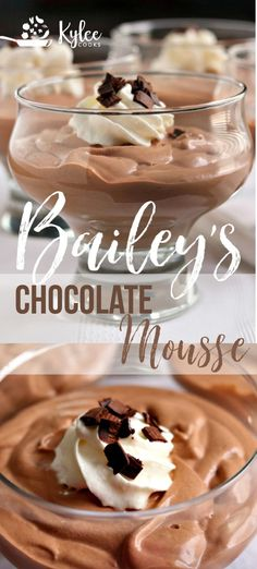 a really easy, really tasty and impressive dessert for a special occasion (a Tuesday night totally counts)? How about this Bailey's Chocolate Mousse? It's creamy, decadent, rich and it ABSOLUTELY hits the spot after dinner. Chocolate Mouse, Chocolate Desserts, Chocolate Decorations, Chocolate Chocolate, Baileys Chocolate Mousse Recipe, Dessert Simple, Party Desserts, Dessert Recipes, Mousse Dessert