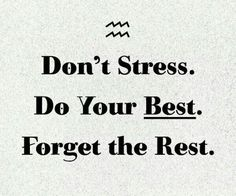 Go away stress